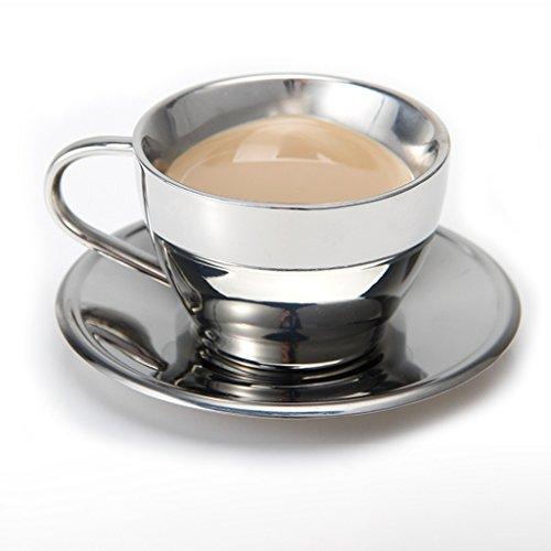 Mugs Tasse De Café Tasse En Acier Inoxydable Tasse En Forme De Coeur Pas Chaud Bon Cadeau D'anniversaire Tasses/mugs et soucoupes