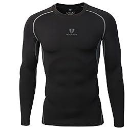Skysper Camiseta / Pantalones de compresión de Manga Larga Leggings de compresión para hombre Deportes Secado Rápido fitness, jogging, Entrenamiento , Ciclismo,Correr