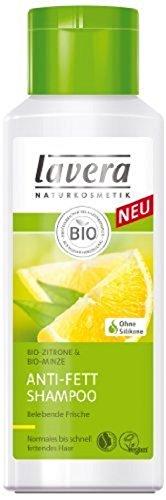 lavera Anti-Fett Shampoo Bio Zitrone - Haarpflege normales bis schnell fettendes Haar 200 ml