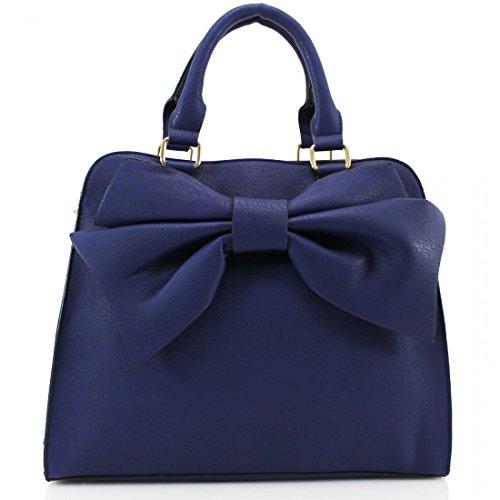 YourDezire-Damen-Tote-Tasche-Blau-navy