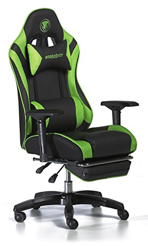 Snakebyte Universal Premium Gaming:SEAT - Stuhl - Racing Chair - für Gaming Sessionss - grün/schwarz (Chair-grün Gaming)