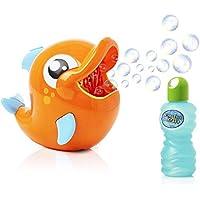 KreativeKfraft Maquina Pompas Jabon, Delfin Pomperos para Niños, Juguete Burbujas Jardin, Juguetes Bañera Incluye Bote Jabon Liquido, Regalos Originales para Niños Niñas