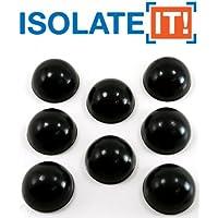 Isolate It! Piedini emisferici in sorbotano e gomma antiurto e