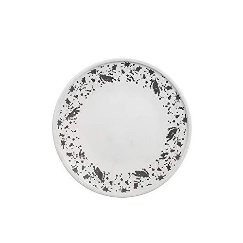 Keramik Geschirr flache Seite flache Platte Western Food Klette flache Platte Sushi flache Platte runde Teller Teller 20,5x3,2 cm ()