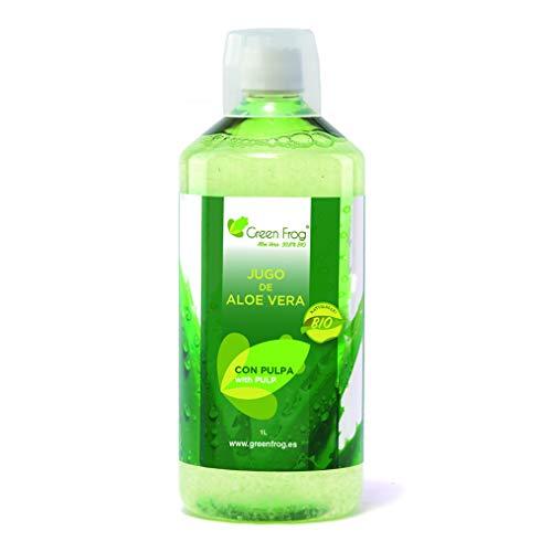Green Frog Aloe Vera Saft mit Fruchtfleisch - Bio-Drink - 1 Liter -