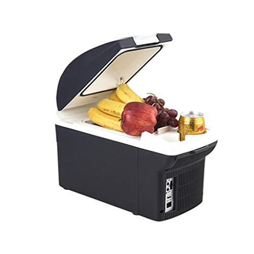 Mini-Kühlschränke 8L USB Port Mini Auto Kleiner Kühlschrank, kleine Zwei-Personen-Welt Single Door Home Schlafraum Kühlung und Heizung Box (Farbe : Dunkelgrau)