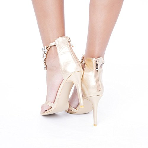 Kolnoo , Hi-Top Slippers femme Or