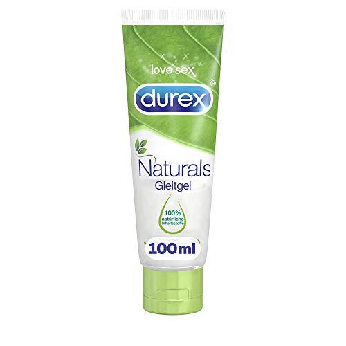 Durex Naturals Gleitgel auf Wasserbasis - Gleitgel aus 100{b583c9f2c9bfad258a5b171f537540e8b1619fed9531d6c0759fab47ee465518} natürlichen Inhaltsstoffen und mit Intim-Balance-Formel - 1 x 100 ml in der Tube