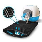 Junher Cat Litter Mat, Waterproof CatFoodMat Double Layer Honeycomb Cat Litter Catcher EVA