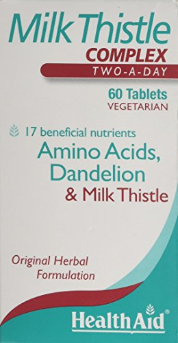 HealthAid Milk Thistle Complex 60 Tablets Vegetarian Test