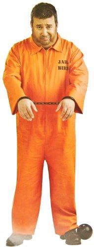 Klassisches Sträflings Kostüm Orange! 1 Teil!