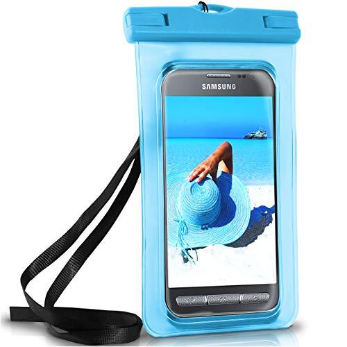 ONEFLOW Wasserdichte Hülle für Samsung Galaxy | Full Cover in Blau 360° Unterwasser-Gehäuse Touch Schutzhülle Water-Proof Handy-Hülle für Galaxy Xcover 4 3 2 Alpha Y3 UVM Case Handy-Schutz