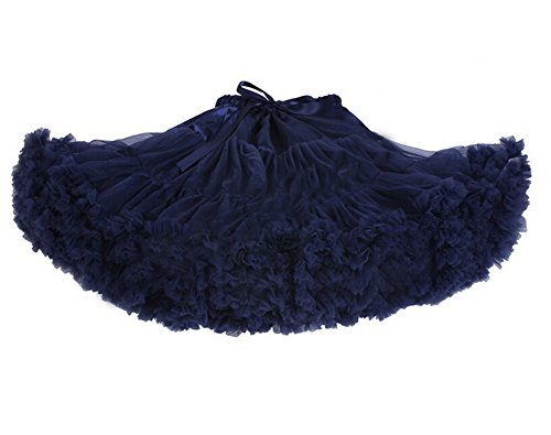 DELEY Donne Adulti Retro Sottogonna Vintage Fancy Petticoat Rockabilly Tutu Gonna Blu navy