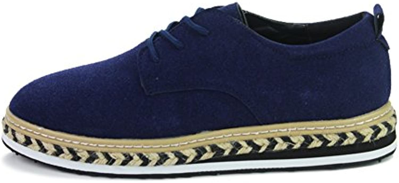 Fall von koreanischen Mode casual Herrenschuhe/Hohen dicken Sohlen Plateauschuhen/Low cut Spitze Schuhe/Gezeiten Schuhe