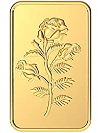 Malabar Gold & Diamonds 24k (999) Rose 10 gm Yellow Gold Bar