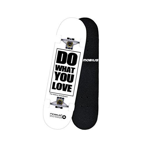 Double Rocker Wheel Weiß Dancing Plate Wheeler Kinder Skateboarding Jugendliches Kind Männlich Black Board Skateboarding (Color : Weiß) -