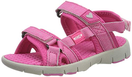 Primigi Pso 34598, Girls' Ankle-Strap Ankle Strap Sandals, Pink (Fuxia/Fuxia 3459811), 13 UK (32 EU)