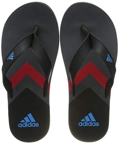 adidas Herren Eezay Flip Flop Dusch- & Badeschuhe, Schwarz Core Black/Shock Cyan/Grey Six, 38 EU