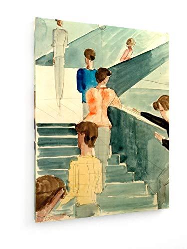 Oskar Schlemmer - Bauhaus - 60x80 cm - Leinwandbild auf Keilrahmen - Wand-Bild - Kunst, Gemälde, Foto, Bild auf Leinwand - Alte Meister/Museum - Bauhaus-kunst