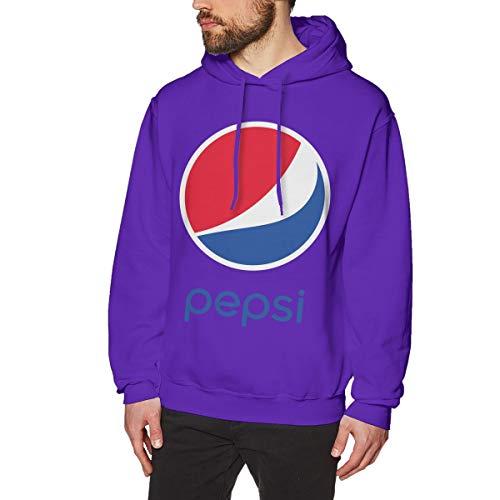 UfashionU Das Pepsi_Logo der Männer grafisches Hoodie-langärmliges mit Kapuze Sweatshirt für das Purpur 2XL der Teenager-Jungen-Männer -