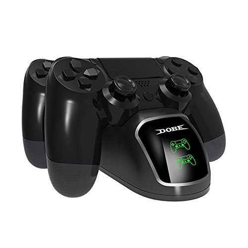 Ricarica controller ps4/caricatore per controller ps4,rottay doppio caricatore joystick ps4 docking station caricatore-supporto dualshock 4/ playstation 4/ps4/ps4 slim/ps4 pro