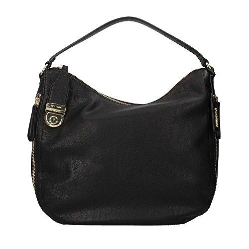Twin set hobo bag shoulder bag large black (Medium Black Hobo Handtaschen)