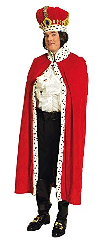 narrenkiste K31250812-T2875 130 cm lang rot-weiß Damen Herren Königsmantel Prinzen Cape Kostüm Umhang Königsumhang (Kaiserin Der Prinzessin Kostüme)