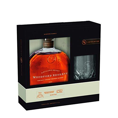Woodford Reserve Distiller's Select Kentucky Straight Bourbon Whiskey Geschenkset mit Kristiallglas - limitiert Whisky (1 x 0.7 l)