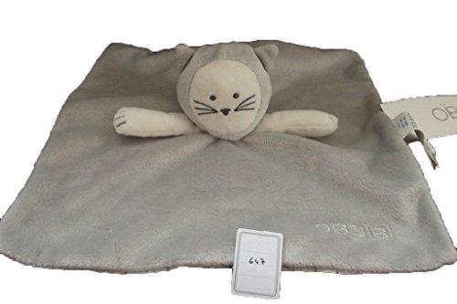 Obaibi / Okaidi Doudou chat plat gris blanc - 647