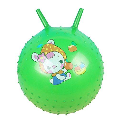 Hopper Springender Ball, Vovotrade reflatable - Fitness für Kinder 25cm Springender Ball mit Handgriff Massage Horn aufblasbares Spielzeug Sprungspiel Spiel Sport (zufällig)