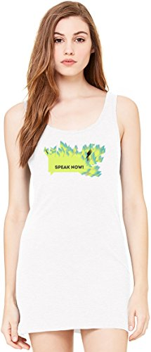 Speak Now Slogan Sleeveless Tunic Tank Dress For Women| 100% Premium Cotton| DTG Printing| Unique & Custom Robes, Skirts, Drapes, Evening Tunics & Clothing By Wicked Wicked