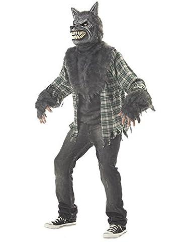 Ani-Motion Werwolf Halloween-Kostüm grau-grün L (Ani-motion Werwolf Kostüm)