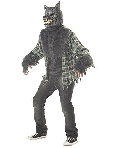 Kostüm Motion Ani - KULTFAKTOR GmbH Ani-Motion Werwolf Halloween-Kostüm grau-grün M (40/42)