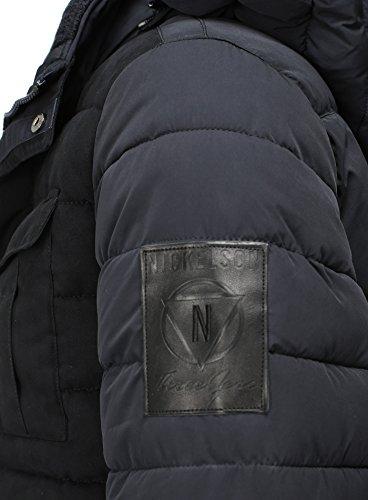 Nickelson Homme veste d'hiver Renew Doublé Marine