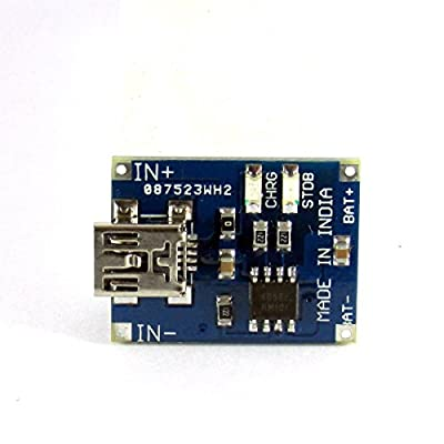 Maker And Hacker TP4056 1A Single-Cell Lithium Ion Battery Charger Board Module