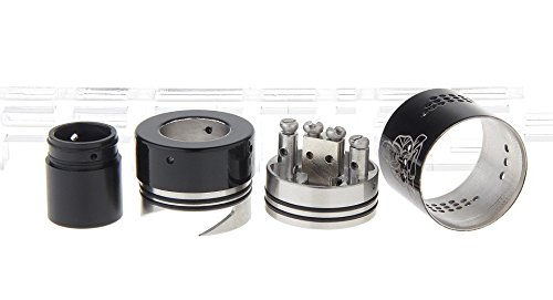 Zephyr Buddha V2 Styled RDA Rebuildable Dripping Atomizer , stainless steel / 28.5mm diameter