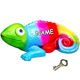 alles-meine.de GmbH Große XL - Spardose -  Chameleon / Eidechse / Gecko - Regenbogen Farben  - i..
