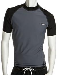 Speedo Herren Badeshorts UPF 50+ Solid Colorblock Slim Fit Short Sleeve Rashguard Tee