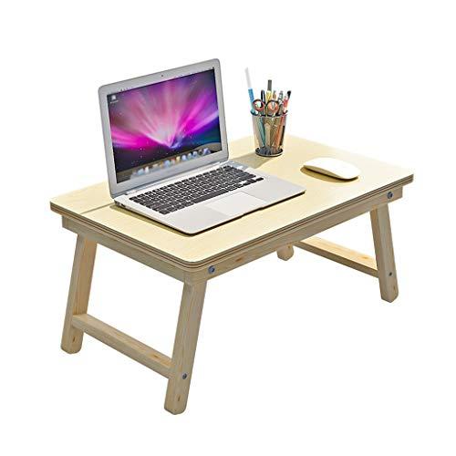 DYV Klappbett Laptop Schreibtisch, tragbare Einfache Computer Tisch Schlafsaal Studie Tisch Frühstück Tablett für Sofa Multifunktions Massivholz Kleinen Tisch Outdoor Camping Tisch -