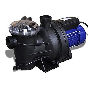 vidaXL Bomba Piscina Eléctrica 1200 W Azul Bomba Agua Estanque Sauna Jacuzzi