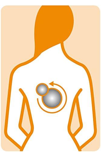 Medisana MC 822 Shiatsu -Massagesitzauflage (geeignet bis Körpergröße 1,85m) , 3 Massagezonen, höhenverstellbare Nackenmassage, Vibrationsmassage -