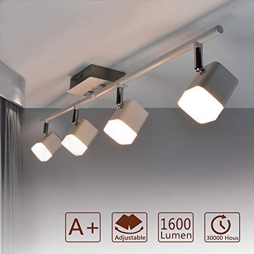 PADMA LED Deckenspots Spotbalken drehbar Deckenleuchte Warmweiß Deckenlampe für Wohnzimmer, Schlafzimmer, Küche, Badezimmer, Büro