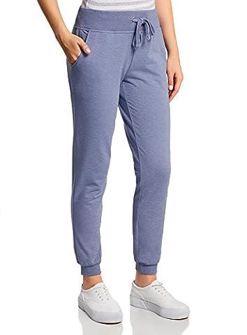 oodji Ultra Femme Pantalon de Sport en Maille, Bleu, FR 36 / (Pantaloni)