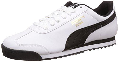 Puma Roma Basic, Scarpe da Ginnastica Basse Uomo, Bianco (White-Black), 43 EU