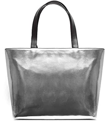 DailyObjects Women's Tote Bag (Silver Metallic)