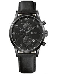 5734ec09b331 Hugo Boss - 1512567 - Montre Homme - Quartz Analogique - Cadran Noir - Bracelet  Cuir