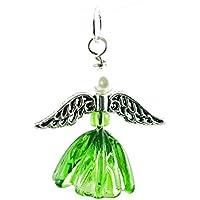 Wunderbar glänzender Glas-Engel in grün an einer Schlangenkette | Murano-Glas-Schmuck | handmade handgemacht | Geschenk zum Geburtstag | Tolles Geschenk zu Weihnachten | einzigartiges Unikat