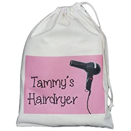 hairdryer small storage bag - 41A1MZXUoiL - The Cotton Bag Store Ltd Personalized Hairdryer Storage Bag Design Natural Cotton Drawstring Bag Supplied Empty