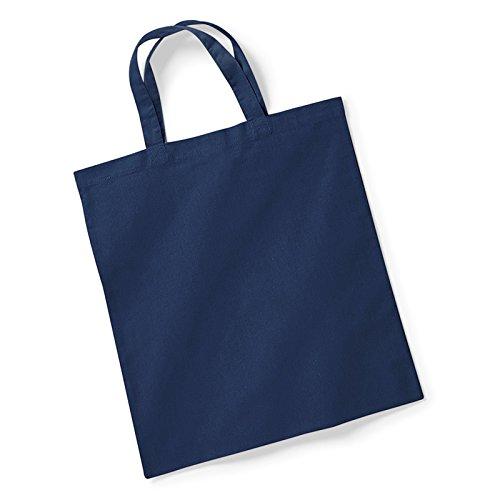 Westford Mill Tasche für Leben kurz Griffe 18schlauchförmiger Spannreif Griff Länge 40cm 100% Baumwolle, 100 % Baumwolle, french navy, Einheitsgröße (Collection-leder-kleiner Messenger)