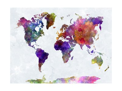 world-map-in-watercolorpurple-and-blue-von-paulrommer-122x92-cm